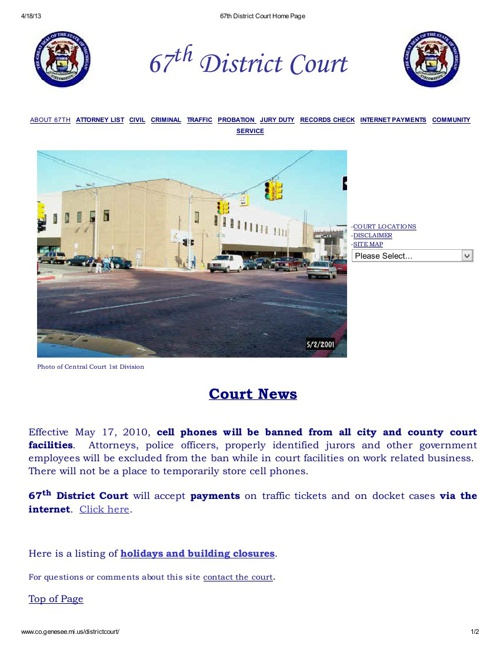 The 67th District Court for Genesee County