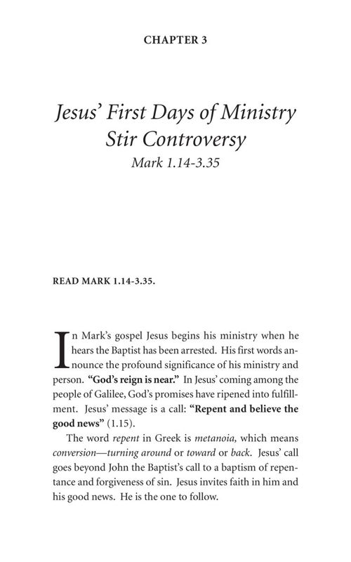 Mark's Gospel Sample Chapters