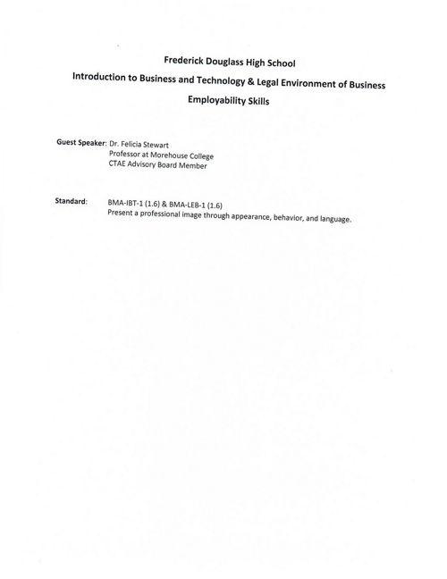 Employability Skill Dr Stewart-Minnifield
