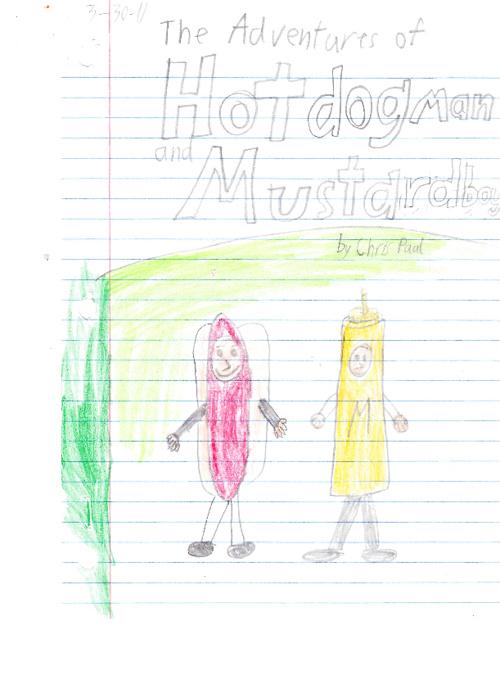 Hotdogman and Mustardboy