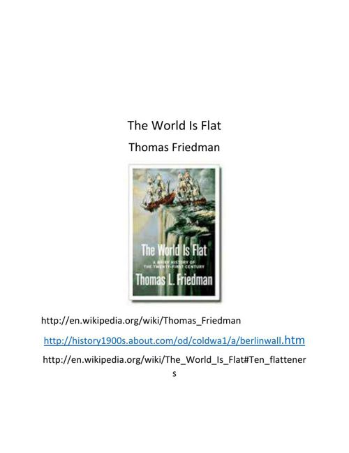 The World Is Flat pdf