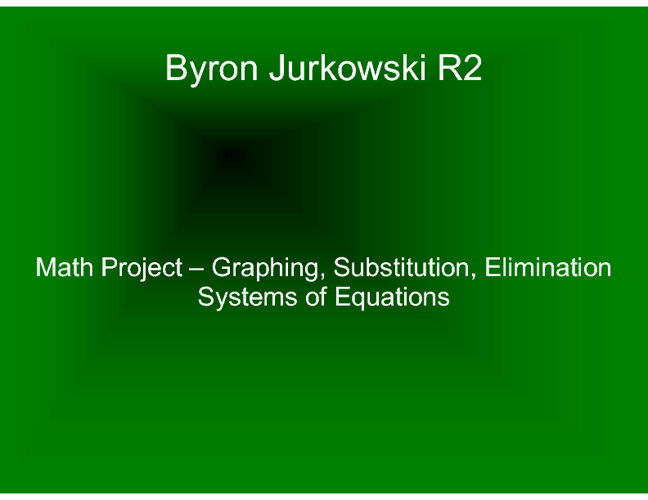 BJurkowski R2 - Systems of Equations