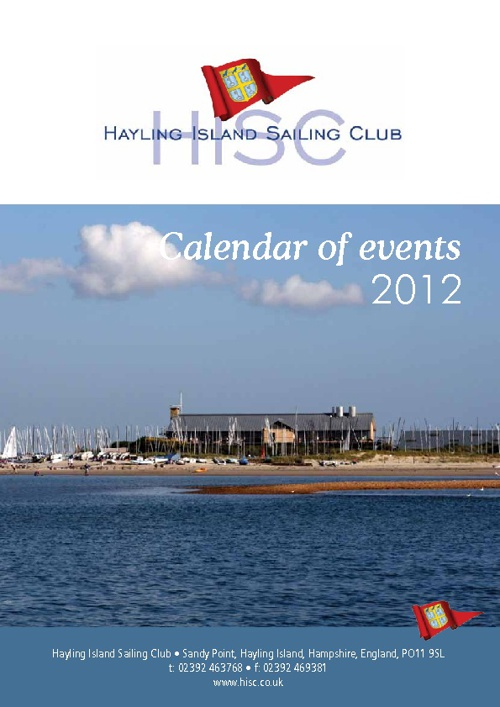 HISC Calendar of Events 2012