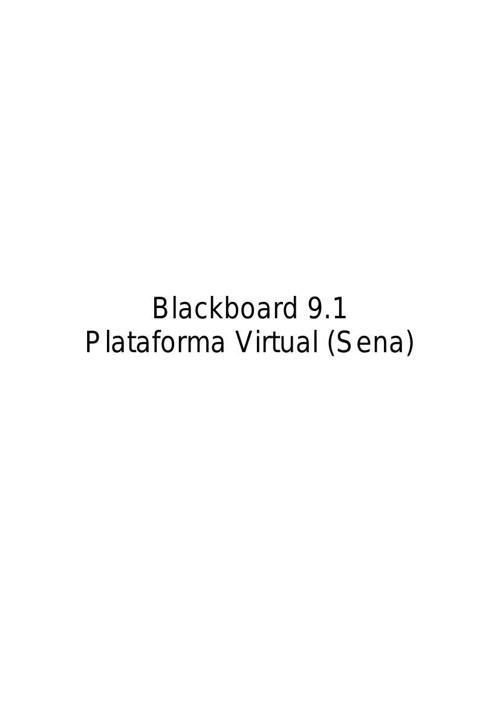 Blackboard 9.1