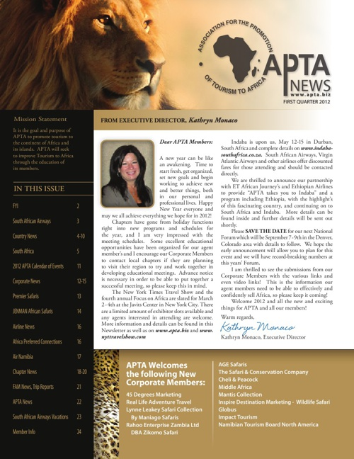 APTA Newsletter 2012 Q1