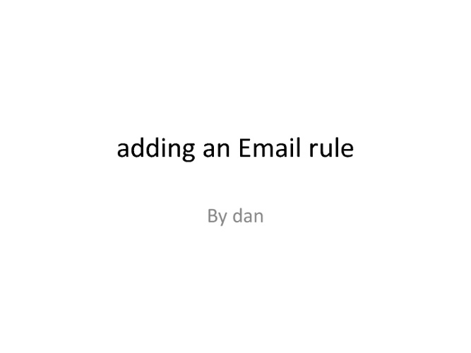 makeing a email rlue