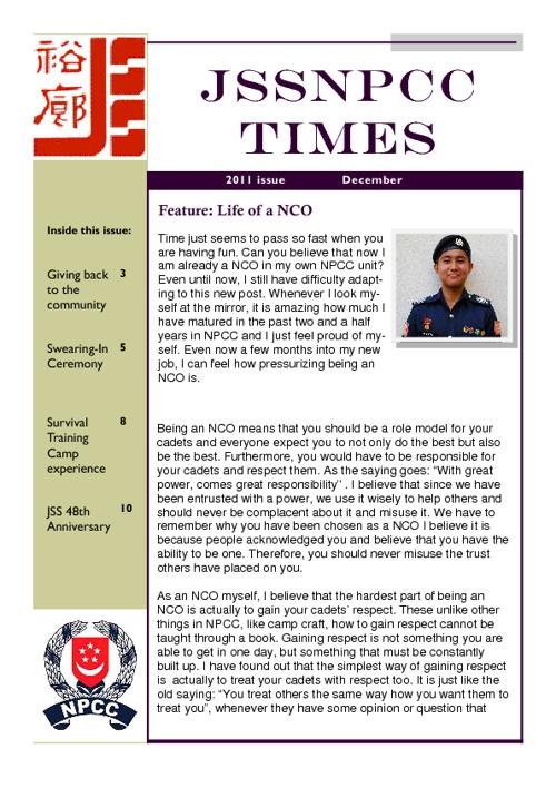 JSSNPCC Times 2011