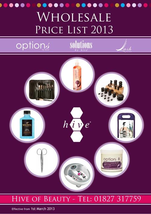 Wholesale Pricelist 2013