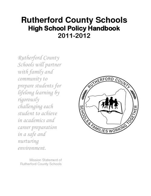 High School Student Handbook 2011-2012