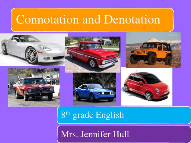 Connotation and Denotation 2012