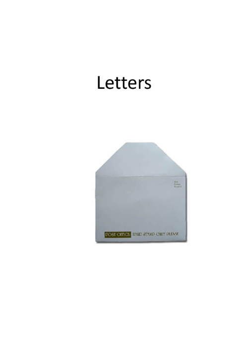 Direct Marketing Letters