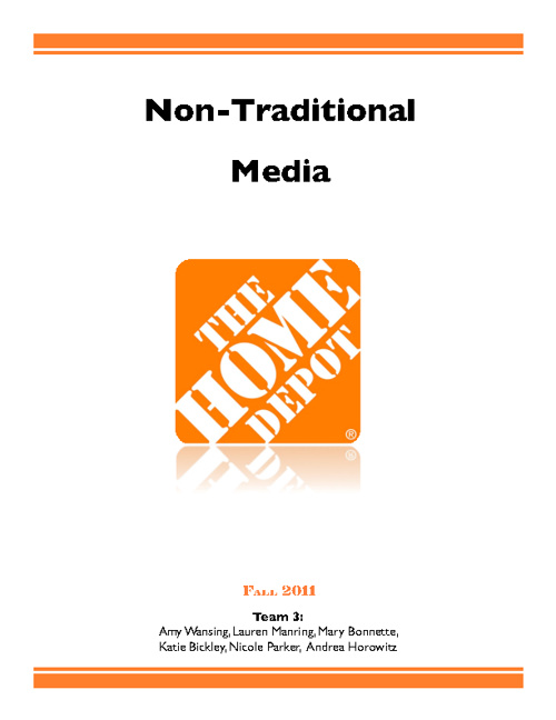 Home Depot – Non-Traditional Communications Audit (Book)