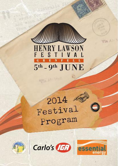Henry Lawson Festival Program - 2014 - Grenfell, NSW