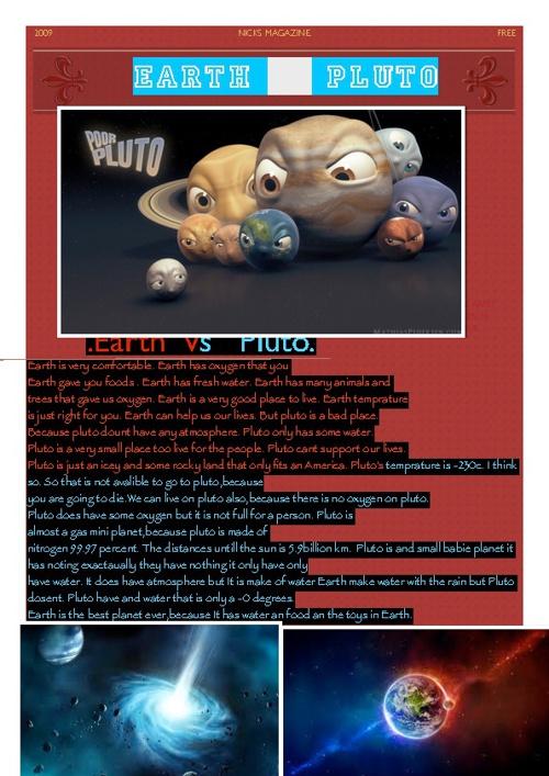 Nick's Earth vs Pluto magazine