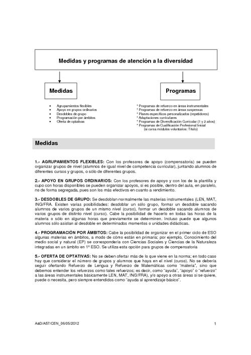 Atención a la diversidad (Orden 25 julio 2008)