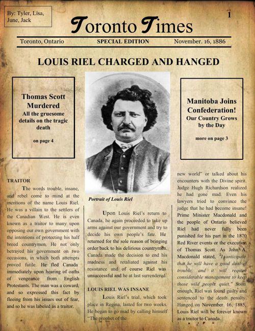 Louis Riel Newspaper  (1)