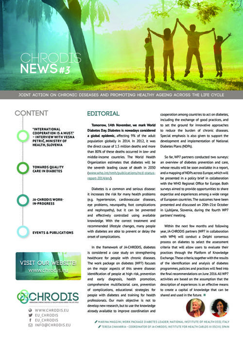 JA-CHRODIS Newsletter Diabetes