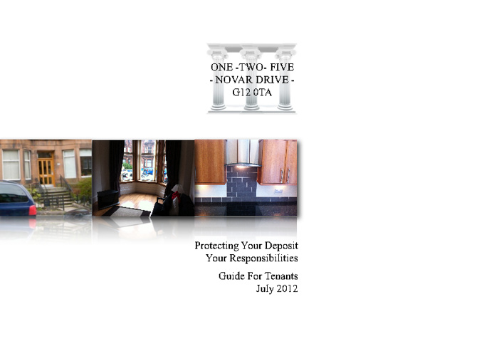 Protecting Your Deposit