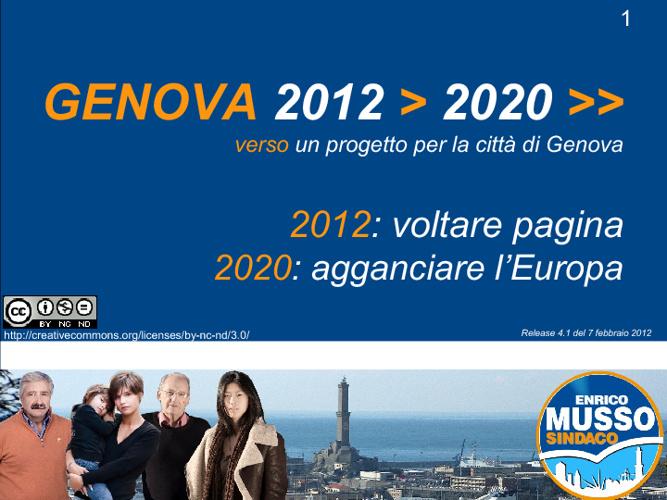Programma Elettorale Enrico Musso - Genova 2012>2020>>