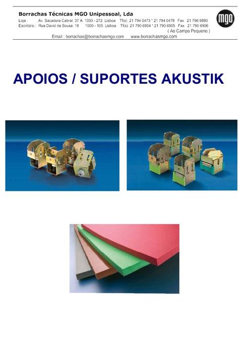 Apoios / Suportes Antivibratórios para Tectos, Paredes e Chão Fl