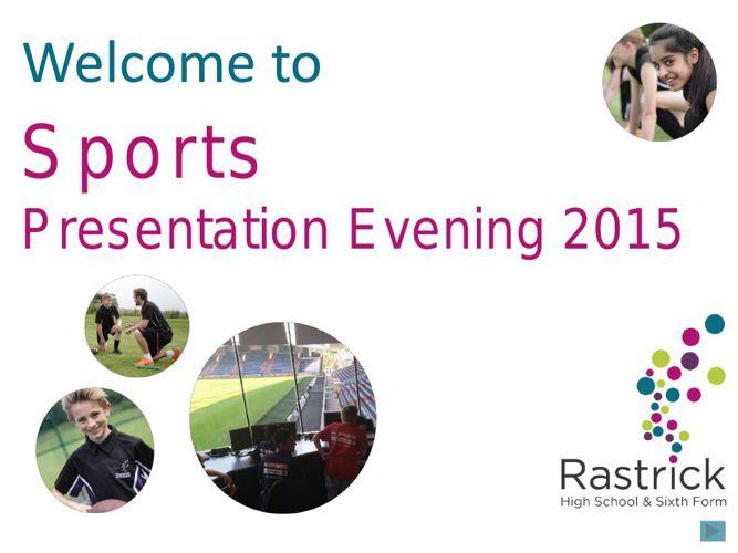 Sports Presentation Evening Presentation 2015 flipbook