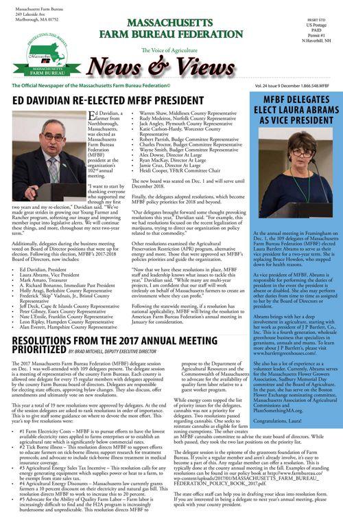 December 2017 News & Views