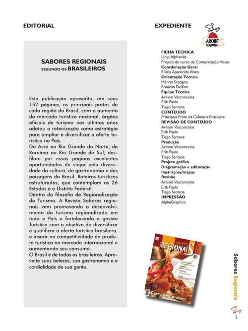 REVISTA SABORE REGIONAIS