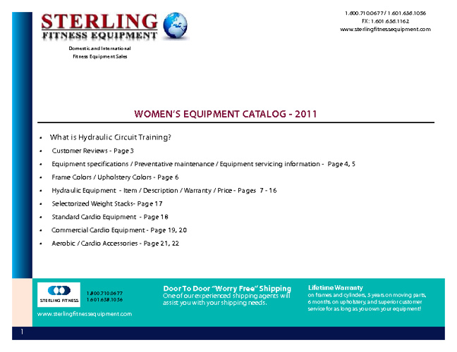 Sterling Women's Catalog 2011