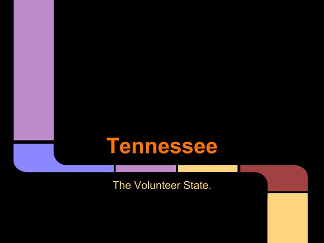 TENNESSEE the volunteer state!