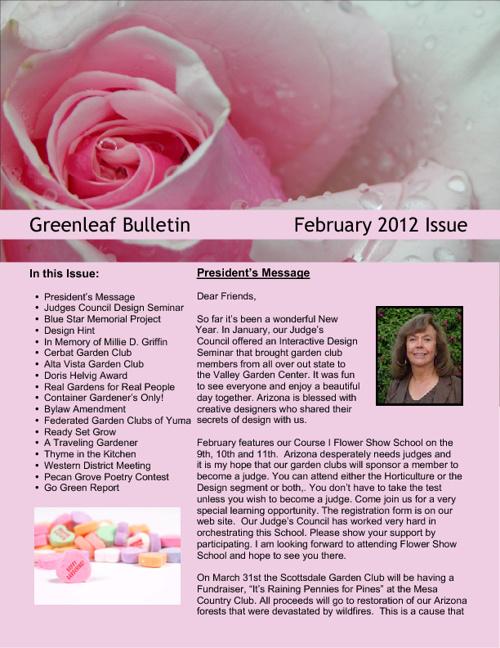2012 February - Greenleaf Bulletin