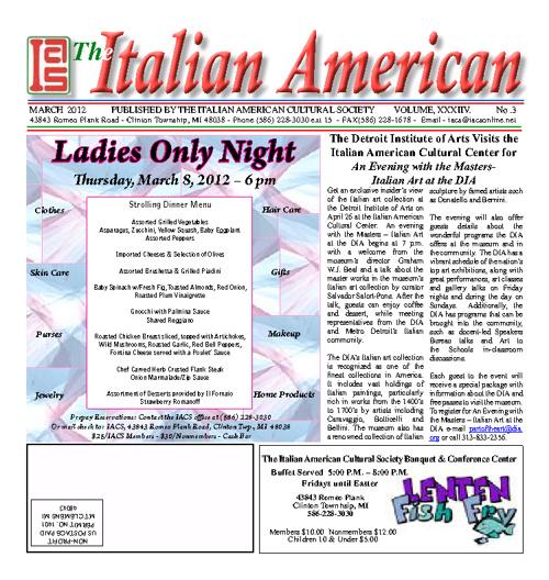 The Italian American - March 2012