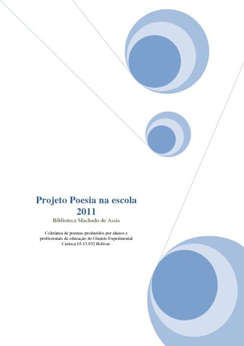 Projeto Poesia na Escola 2011 - GEC Bolívar