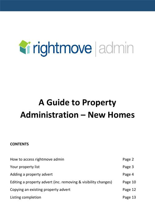 A Guide to Property Administration - Rightmove Admin - New Homes