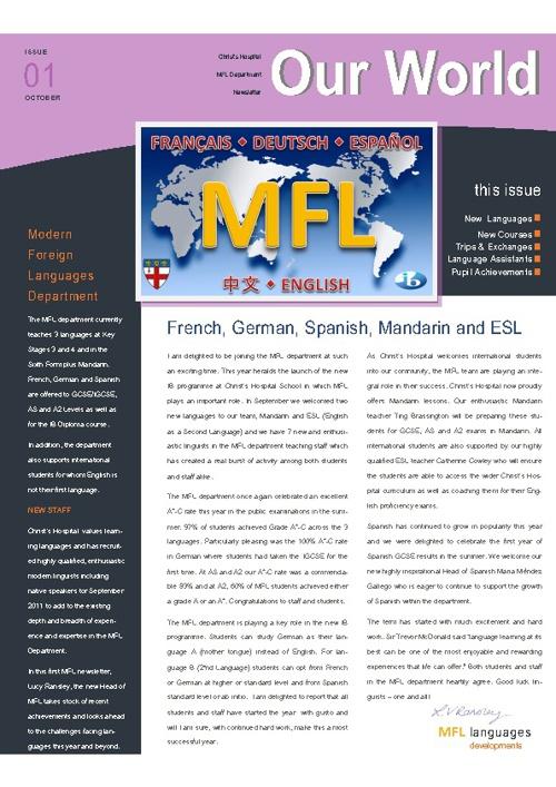 MFL Newsletter October 2011