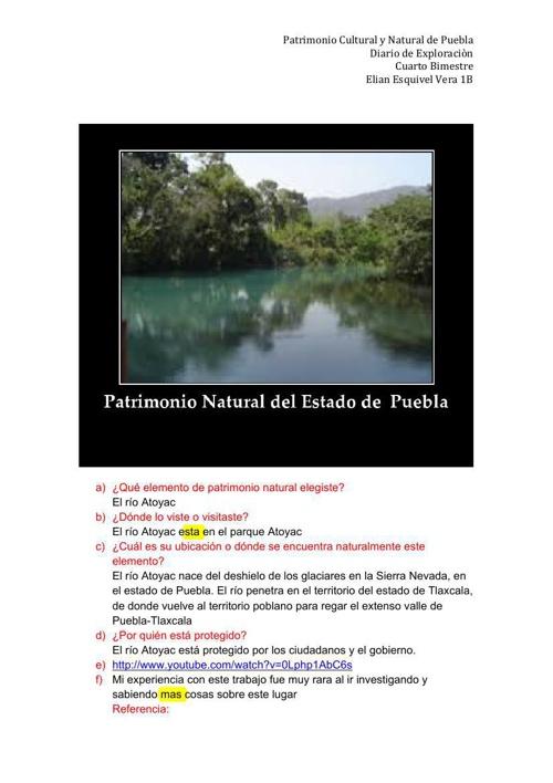 Patrimonio Natural de Puebla