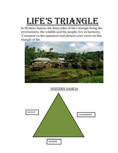 LIFE'S TRIANGLE