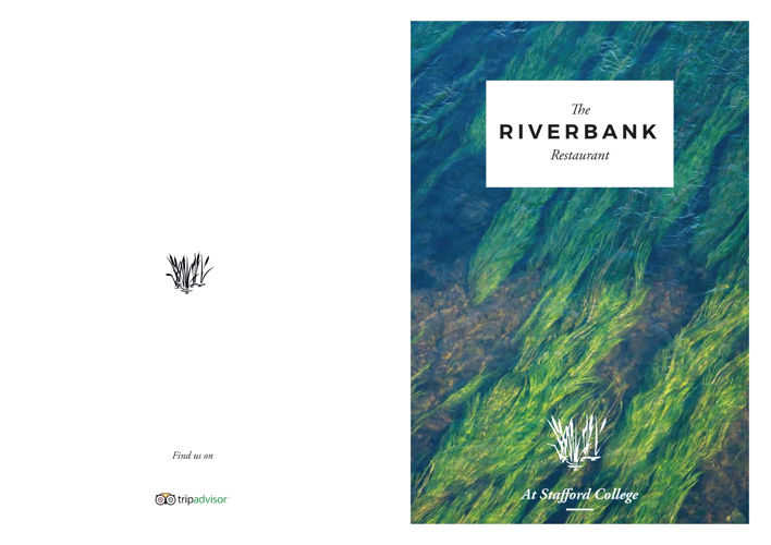 Riverbank Evening Menu