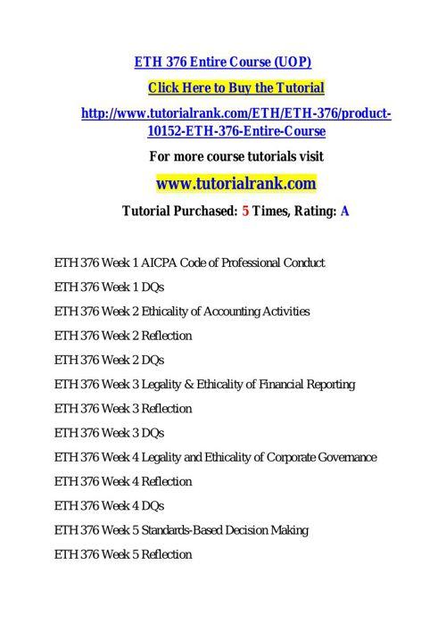 ETH 376 learning consultant / tutorialrank.com