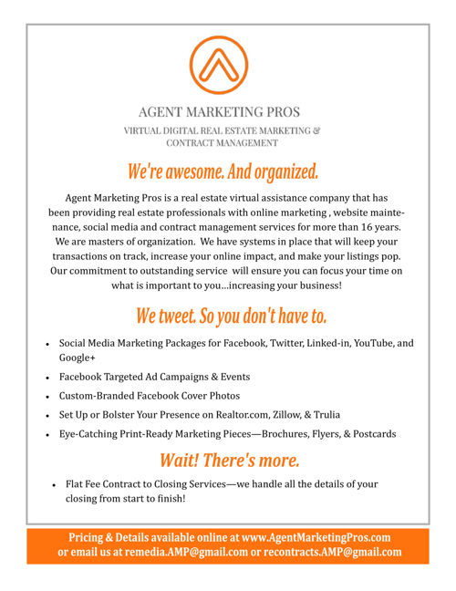 Agent Marketing Pros Portfolio