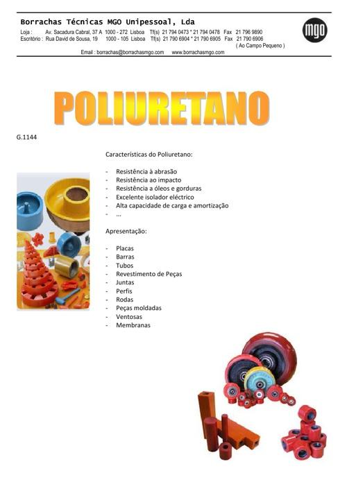 Catálogo de Poliuretano