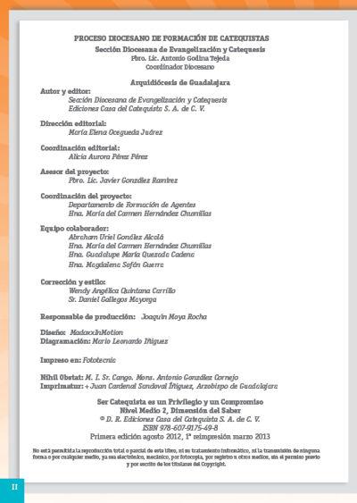 Formación Catequistas - Medio 2 - Saber – Formador