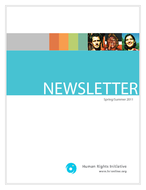 Newsletter Summer/Spring 2011