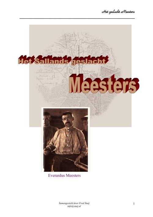 Het geslacht Meesters uit Salland