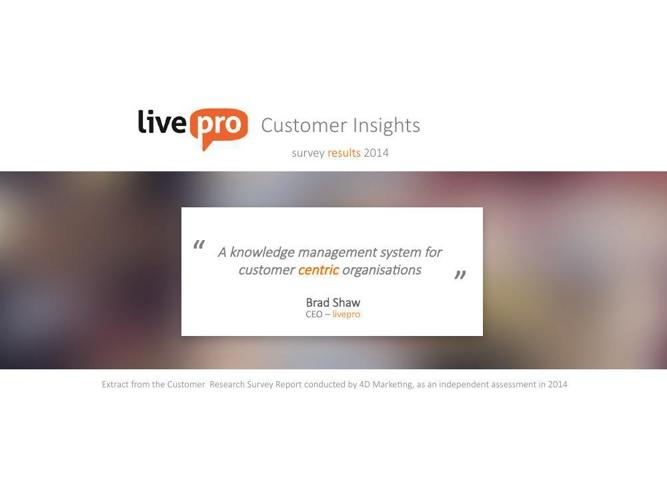 livepro customer insight results 2014