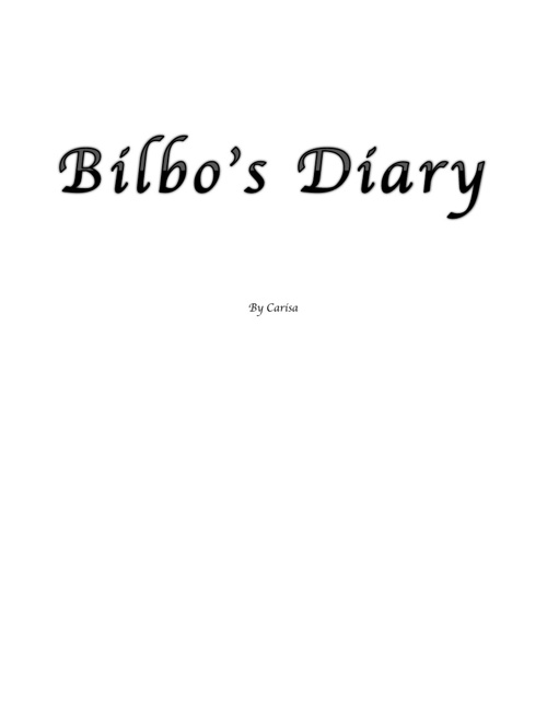 Bilbo's Diary