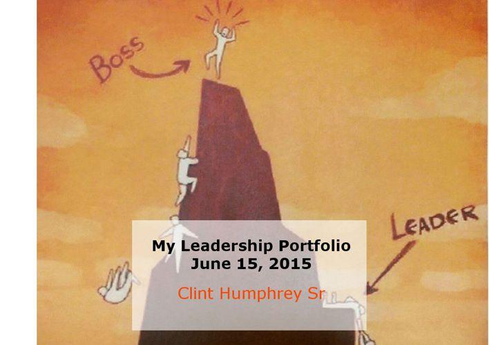 Leadership Portfolio by Clint