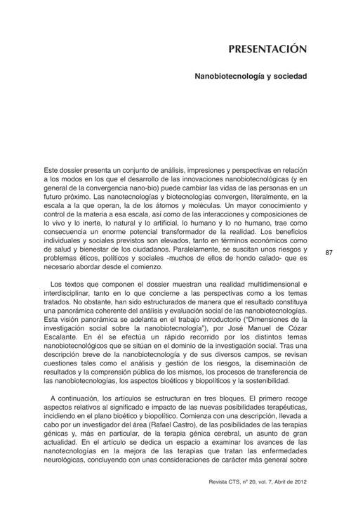 VOL07/N20 - Presentación dossier