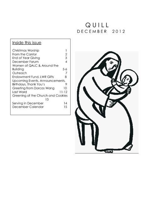 December 2012 Quill