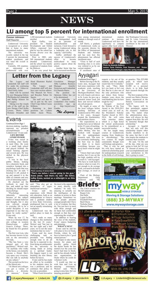 May 5, 2015 issue of the Legacy