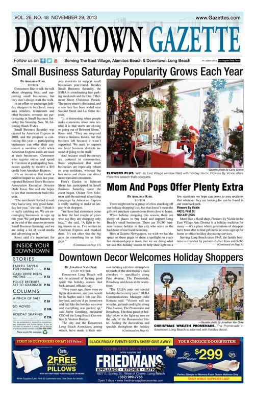 Downtown Gazette  |  November 29, 2013